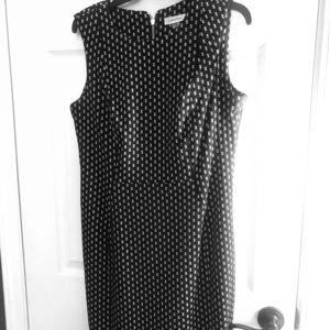 Black and white Calvin Klein sheath